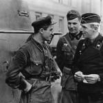 Советские и германские танкисты в Бресте - сентябрь 1939