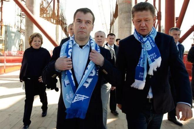 Медведев в шарфе Зенита