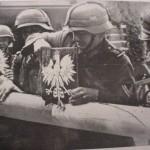 Снос польских пограничных заграждений немецкими солдатами - сентябрь 1939