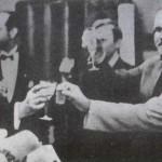 Молотов, Сталин и Риббентроп отмечают подписание пакта