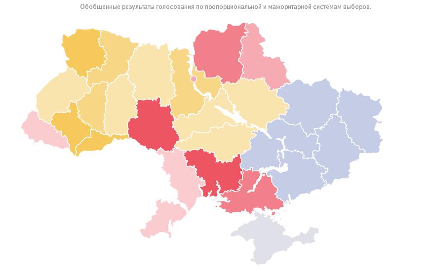Карта парламентских выборов в Украине (2014)