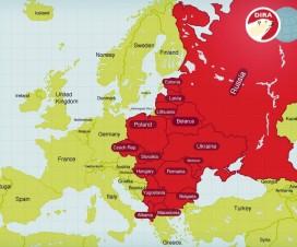 Карта Восточной Европы