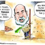 Карикатура Дэйва Гранлунда на Бена Бернанке