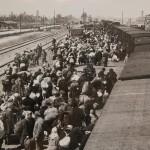 Прибытие поезда с заключенными