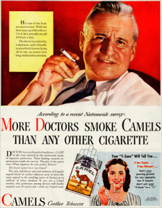 "Реклама 50-х: ""Большинство докторов предпочитают Кэмел другим сигаретам"""