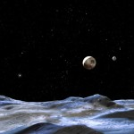Предполагаемый вид с поверхности Плутона