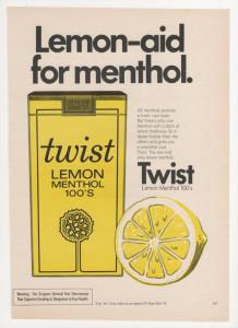 Сигареты со вкусом лимона и ментола