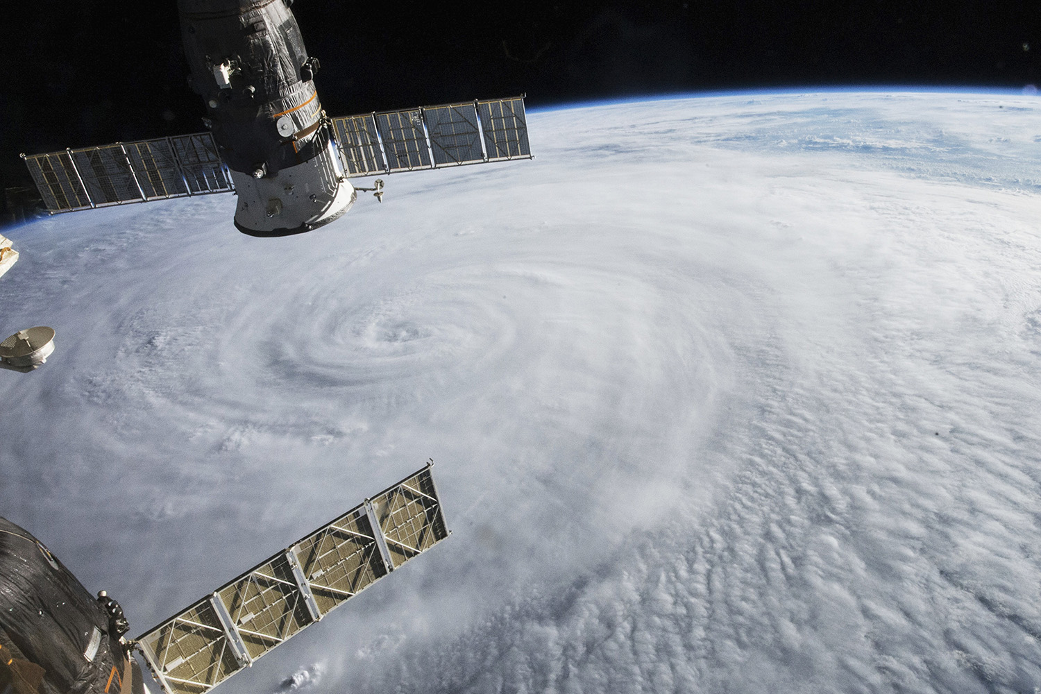 05 Aug 2015 --- This photograph was from the International Space Station (ISS) taken at 08:44 UTC (4:44 p.m. local time) on August 5, 2015, as Typhoon Soudelor advanced on Taiwan. --- Image by © Corbis
