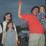 Быков с женой, сыном и дочерью