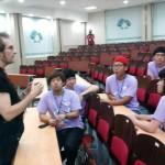 со студентами в университете города Джинджу (Южная Корея)2011