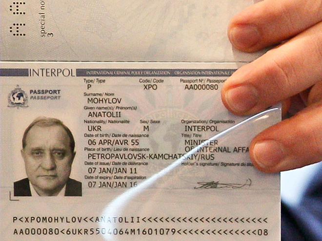 Паспорт интерпола реальное фото