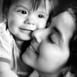 Дочь с внуком Юрой (2013)