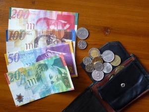 Банкноты и монеты нового израильского шекеля