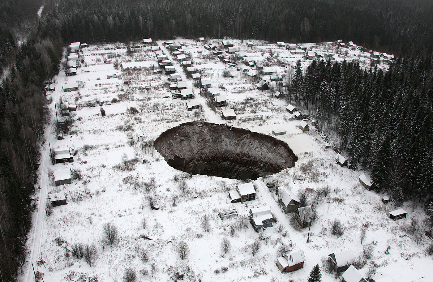 Sinkhole Found At Uralkali Mine In Russia's Solikamsk