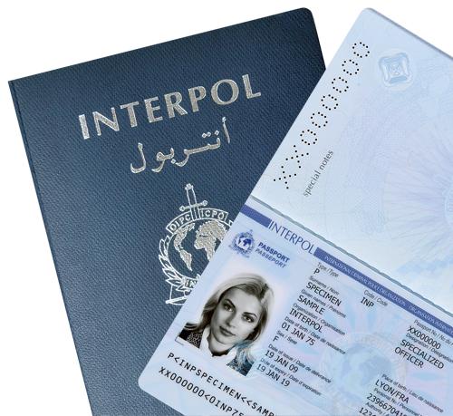 Паспорт Интерпола разворот