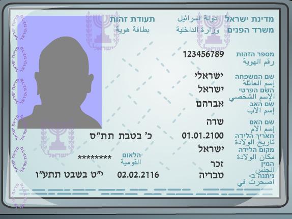 Внутренний Паспорт Израиля