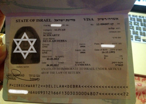 Удостоверение репатрианта Израиля