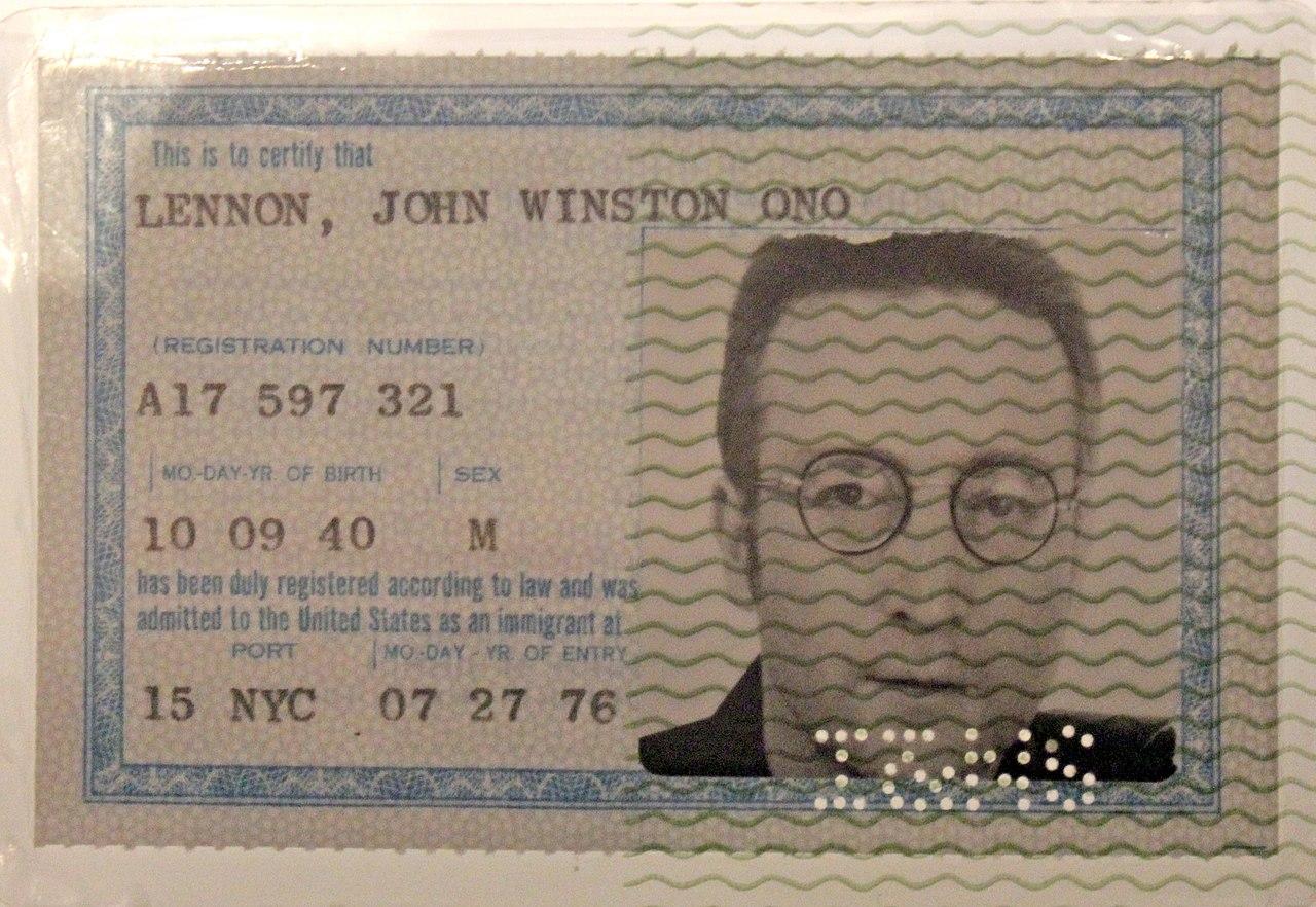 Грин карта Джона Леннона
