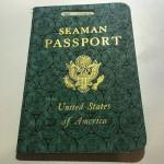 Старый паспорт моряка США