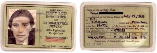Первая грин карта США, 1950 год