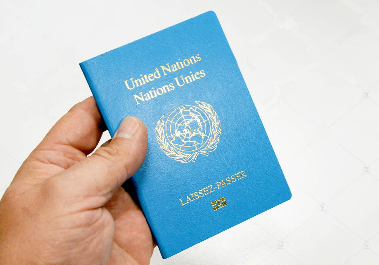 Обложка паспорта ООН
