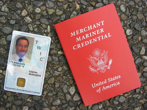 Паспорт моряка США и карта