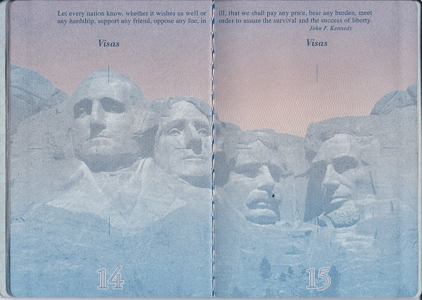 чистый бланк пятой страницы паспорта