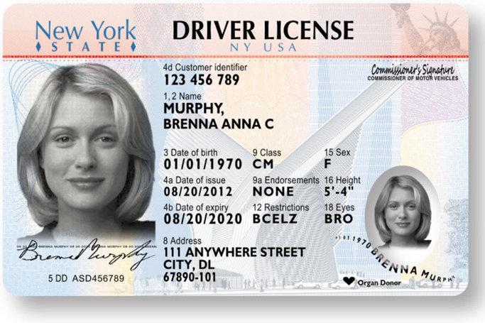 Права, выданные в Нью-Йорке