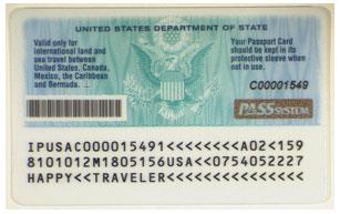 Заполненна обратная сторона паспорта-карты