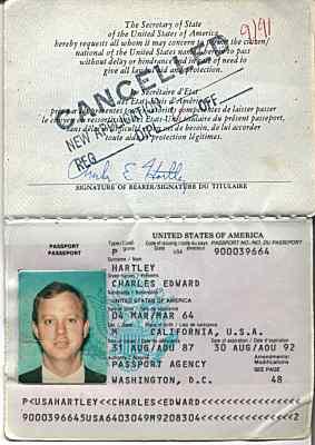 Разворот дип. паспорта США