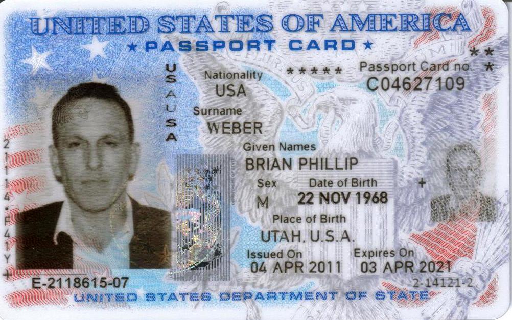 Пластиковый паспорт США