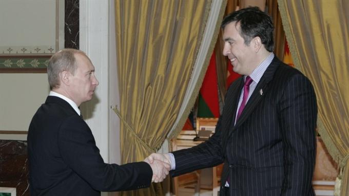 Путин и Саакашвили