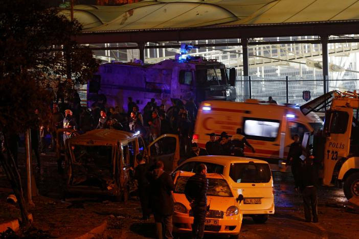 An ambulance leaves the scene after a blast in Istanbul, Turkey, December 10, 2016. REUTERS/Murad Sezer