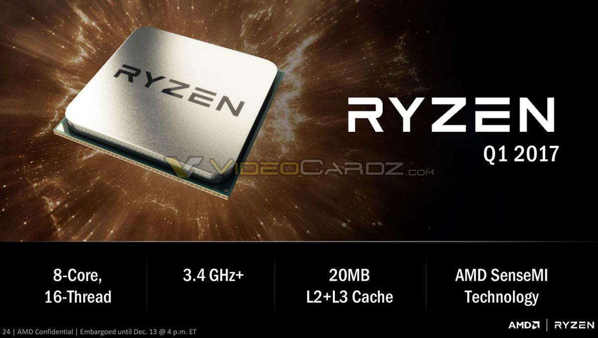 """Характеристики процессора """"Ryzen"""""""