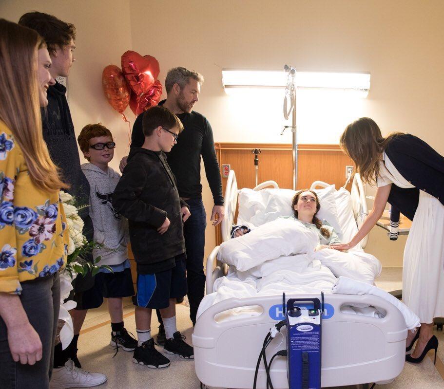 Мелания Трамп Посещает Мадлен Вилфорд в больнице