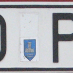 В 90- на номера наносился герб города регистрации авто