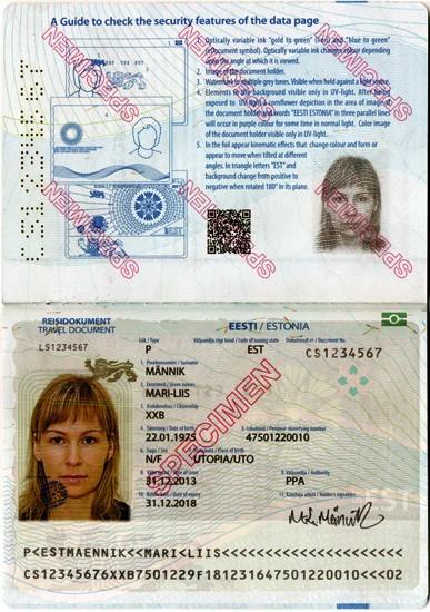 Эстонский проездной беженца