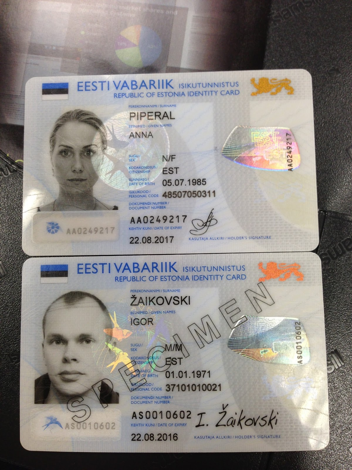 ID-card Эстонии