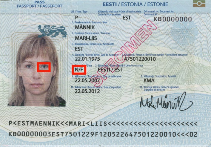 Эстонский загранник