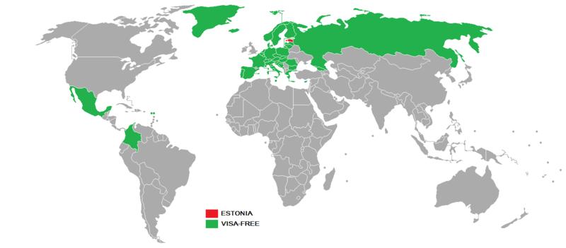 Безвизовые страны для серых паспортов Эстонии