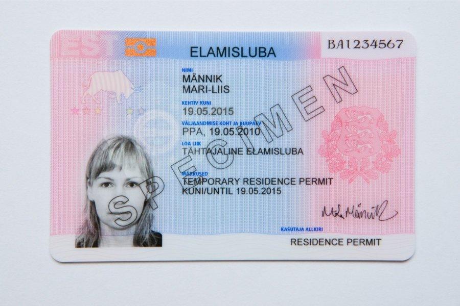 Вид на жительство в Эстонии