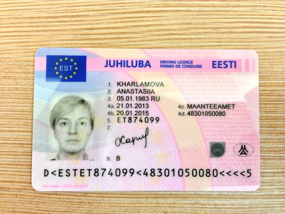 Driving licence Estonia