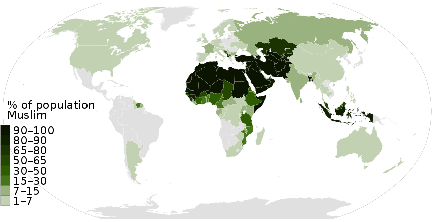 map muslim