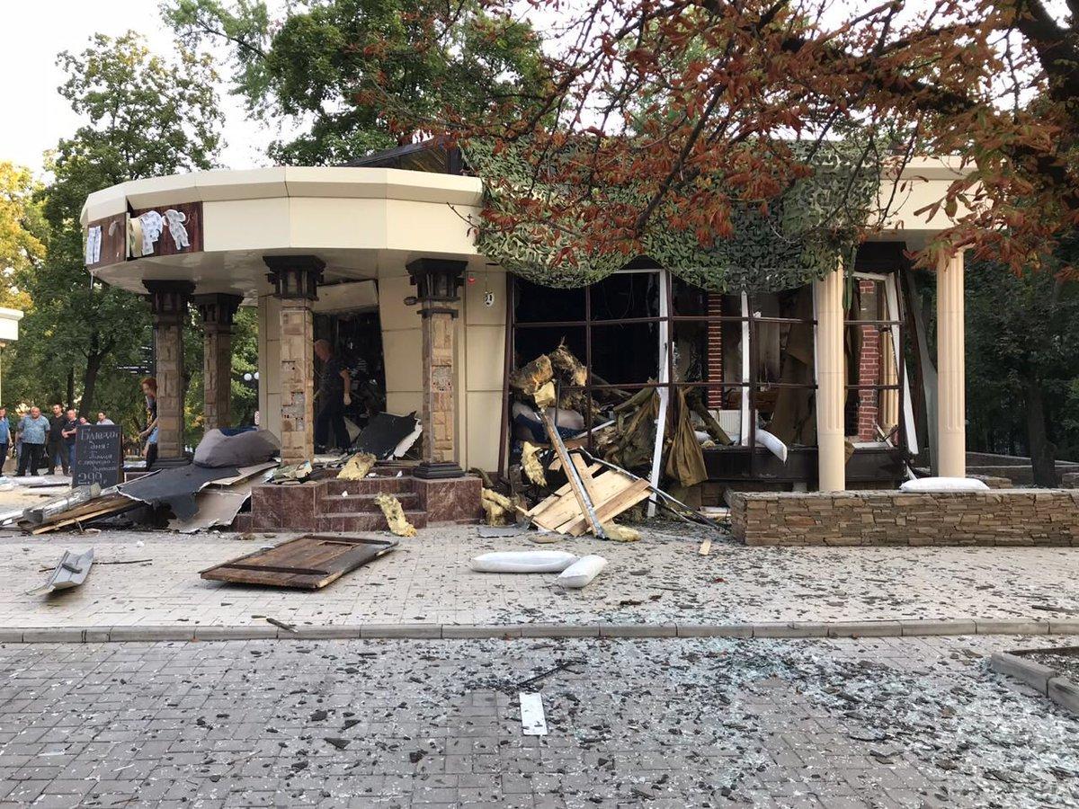 Место взрыва Захарченко