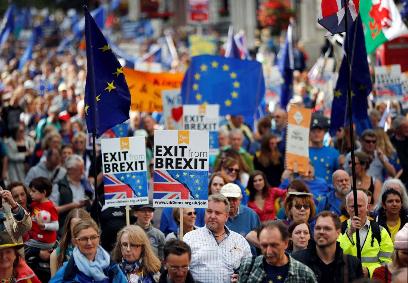 Протесты против Brexit