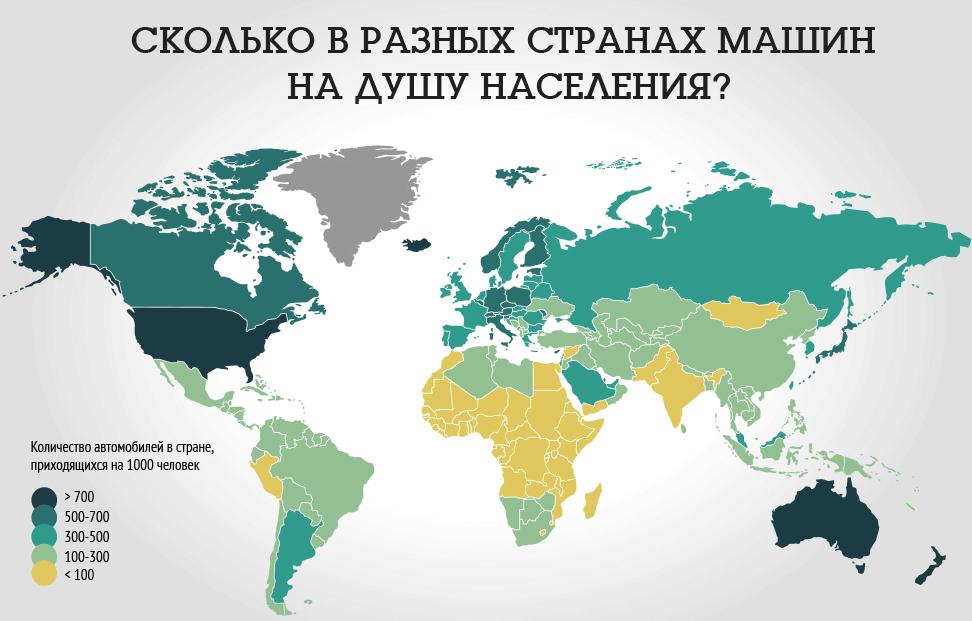 Карта автомобилизации населения