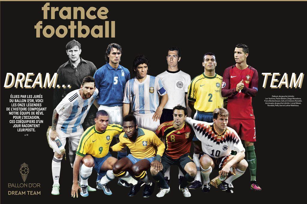 Лучшие футболисты в истории, обложка журнала