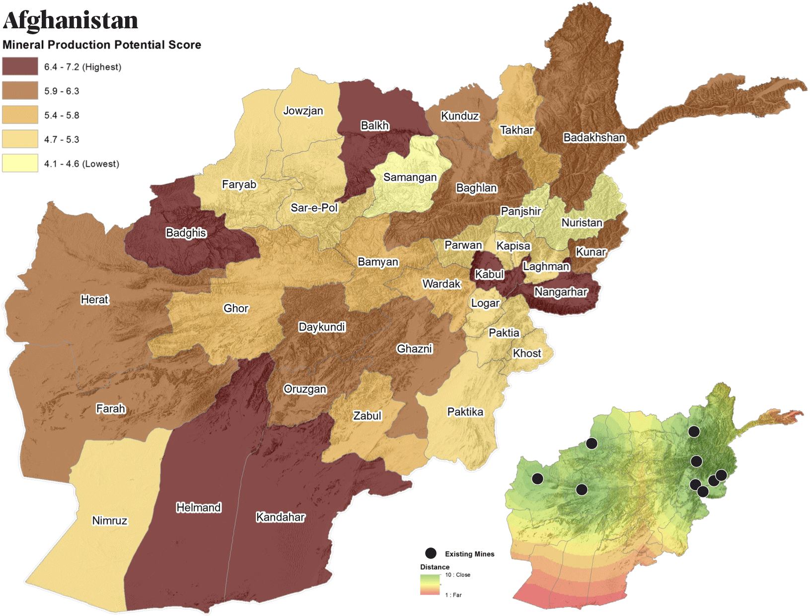 Ресурсный потенциал Афганистана